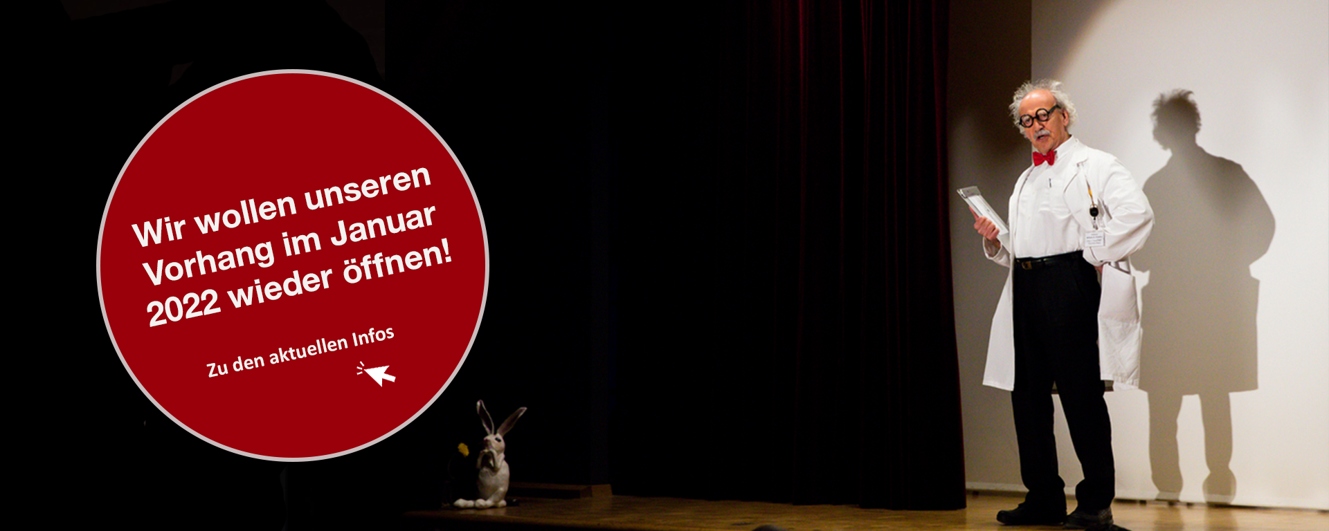 """Vorhang uff, 2022 isch in Hobel vilicht wider Theater!"""